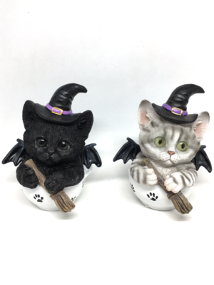Witch Kitty - Set of 2 Black & White