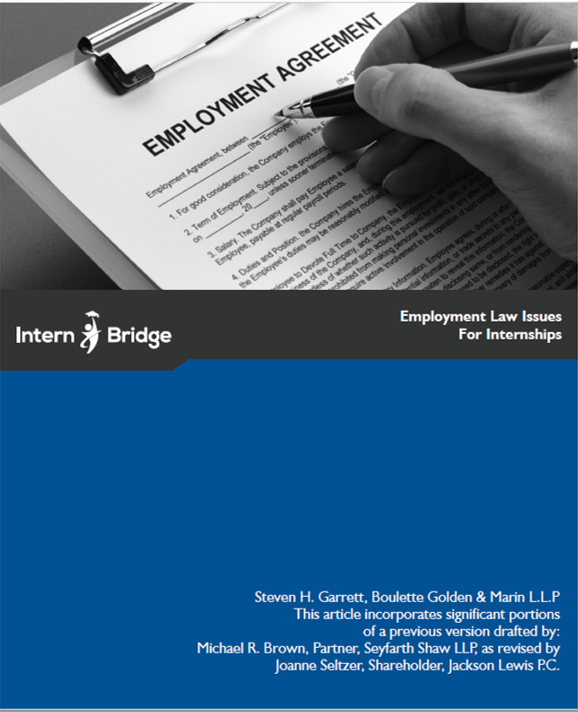 Employment Law Issues for Internships