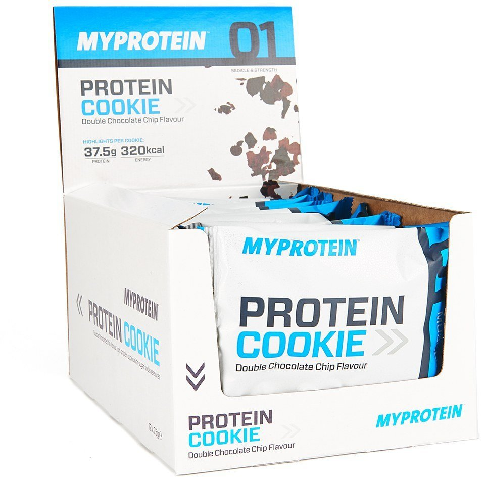 Galleta Cookie Rica en Proteinas - 12 x 75g - Caja - Cookies & Cream