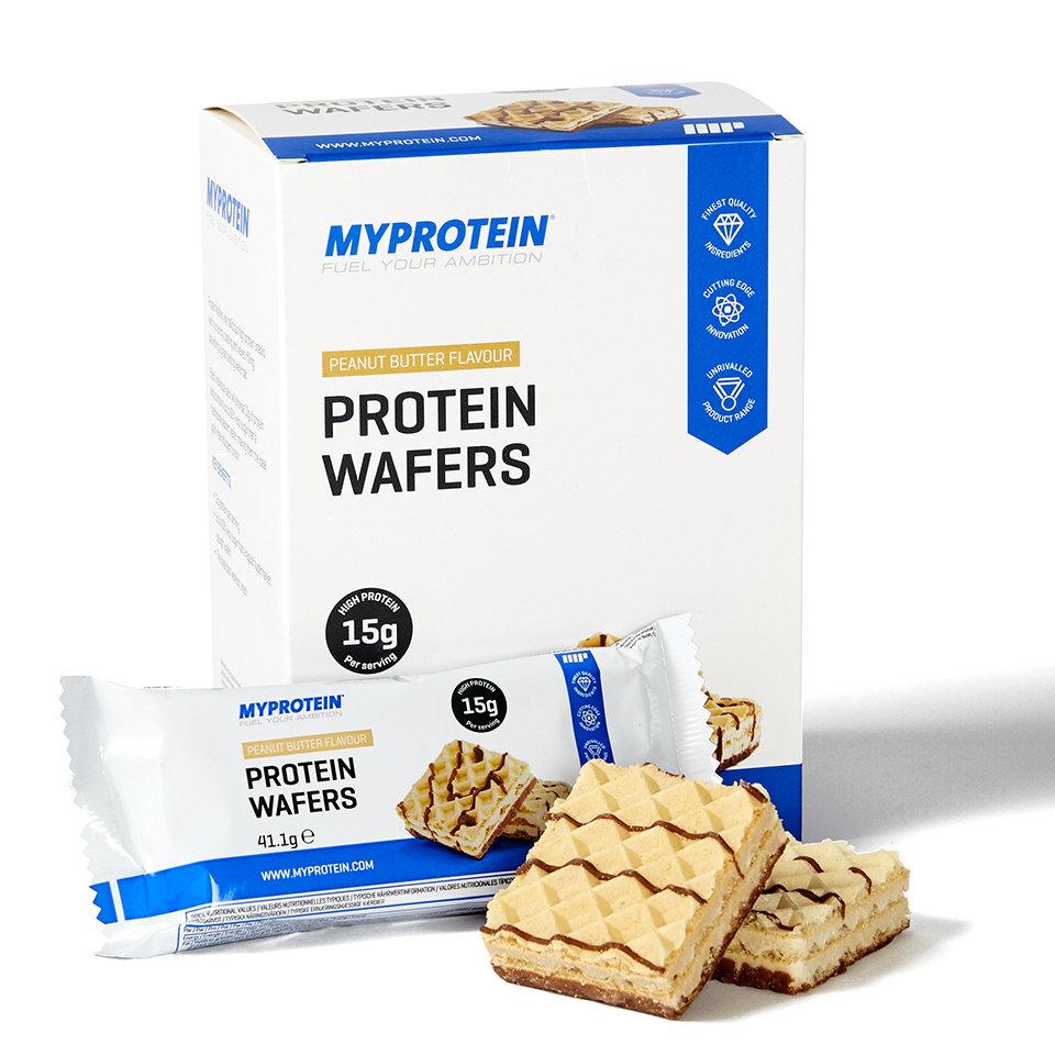 Barquillos de Proteinas - 10 x 40g - Caja - Mantequilla de Cacahuete