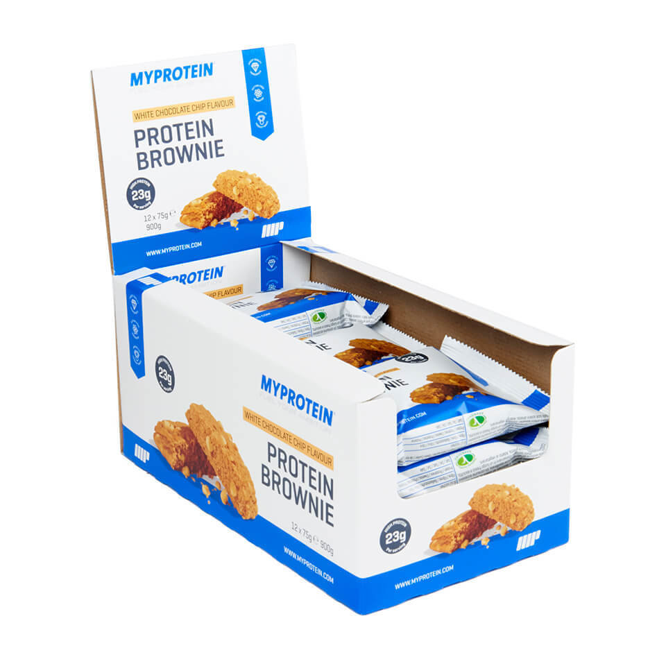 Protein Brownie - 12x75g - Caja - Chocolate Blanco