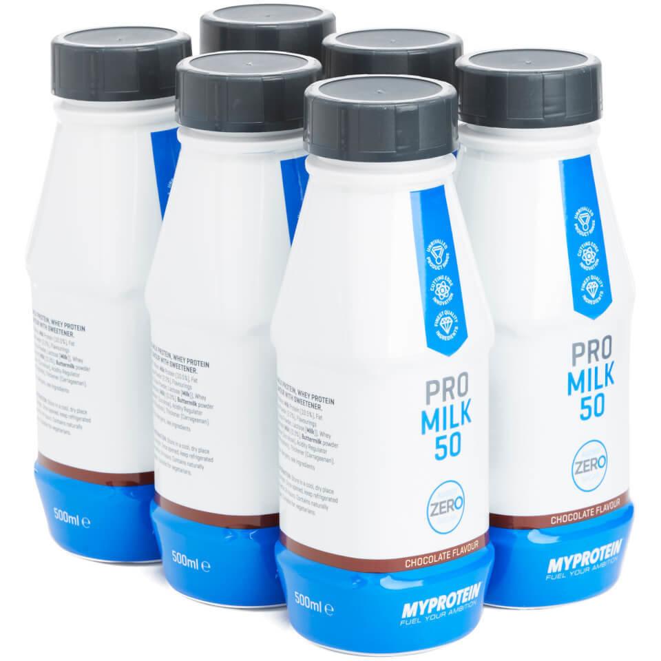 Pro Milk 50 Zero - 6 x 500ml - Caja - Fresa