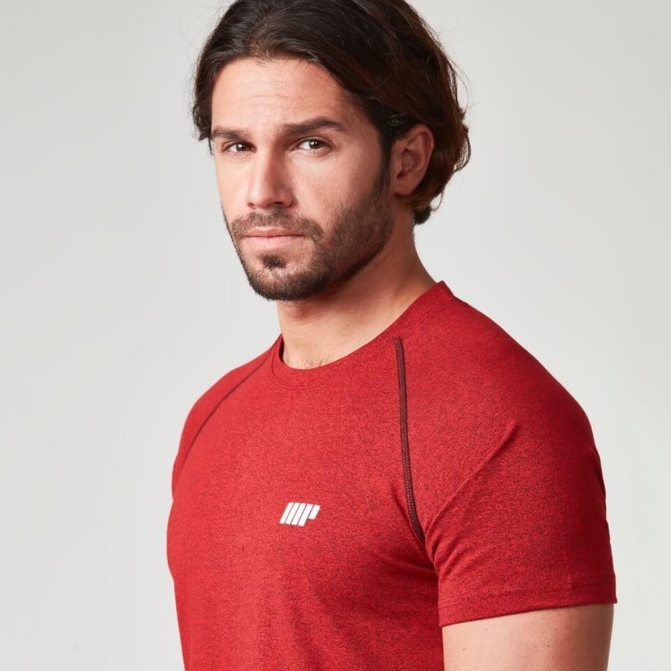 Camiseta de Rendimiento con Manga Ragl�n - XXL - Rojo