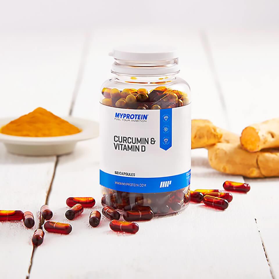 Curcumina y Vitamina D C�psulas - 180C�psulas - Tarro