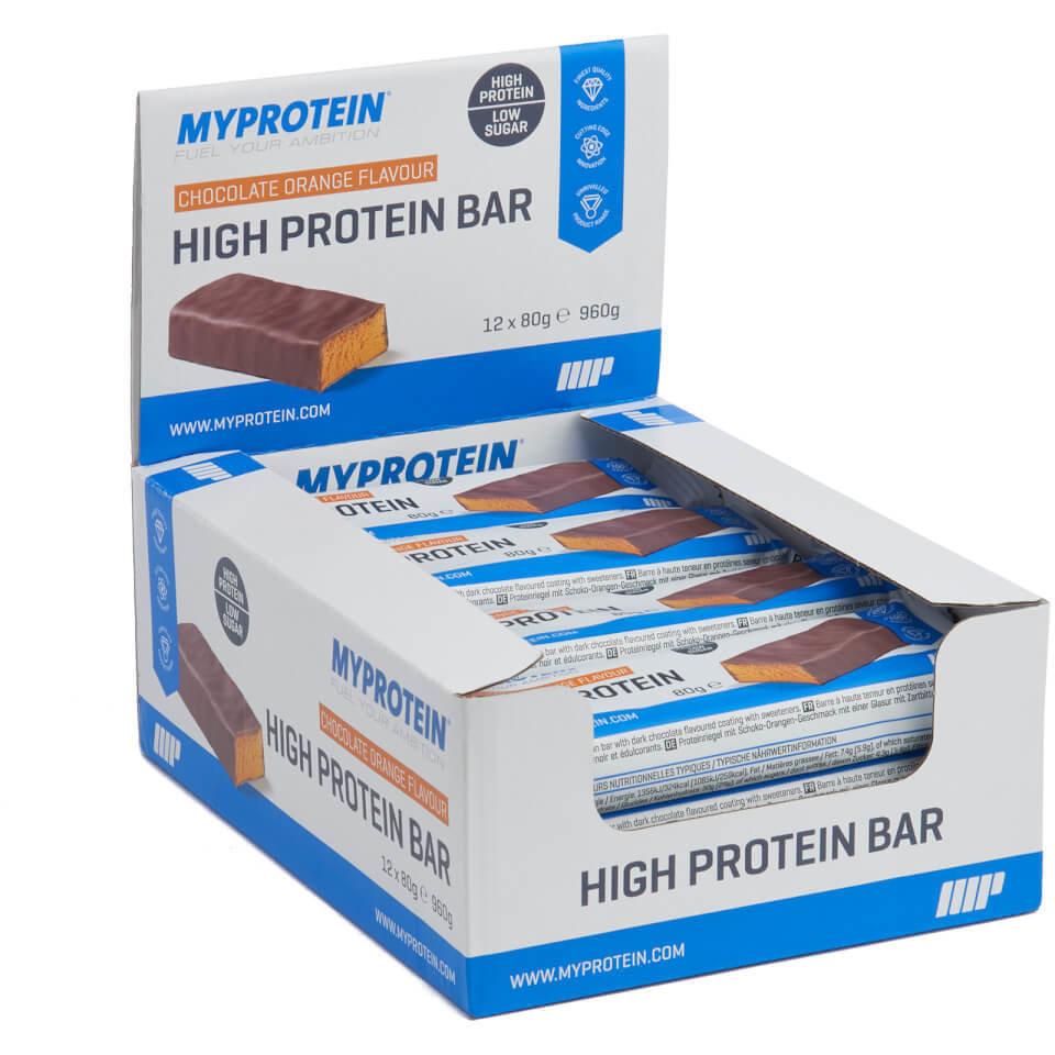 Barritas Ricas En Proteina - 12 x 80g - Caja - Chocolate con naranja