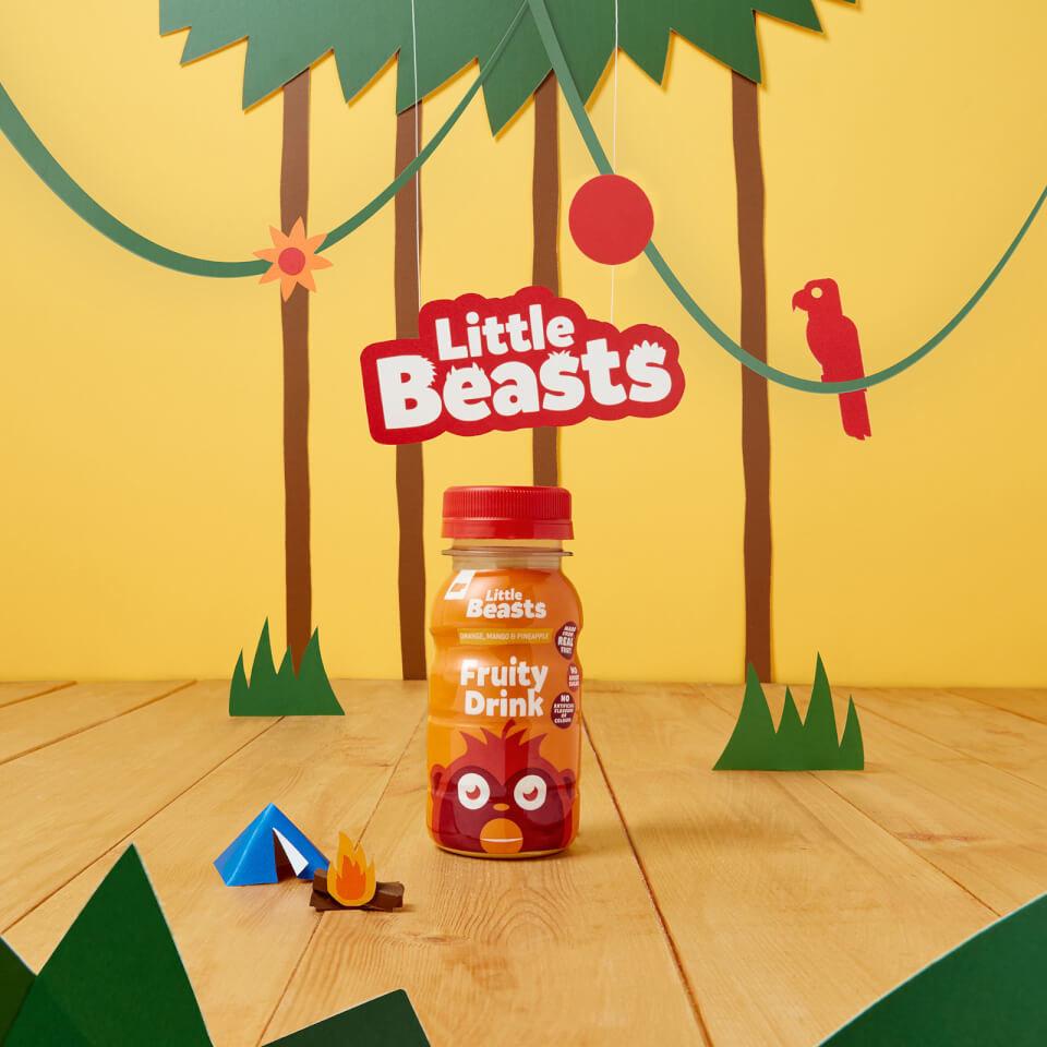 Bebida de Frutas Little Beasts x 6 - 6 x 150ml - Botella - Orange, Mango & Pineapple