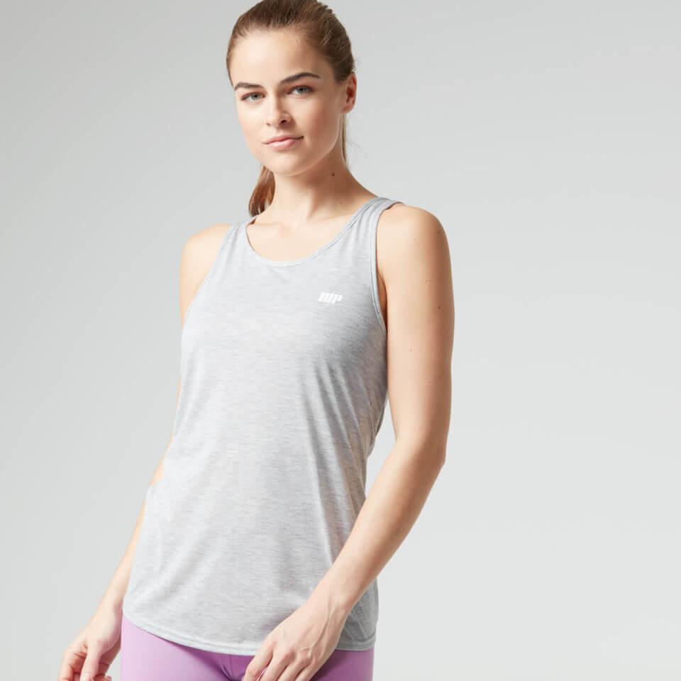 Camiseta de Tirantes con Nudo en la Espalda - S - Blanco