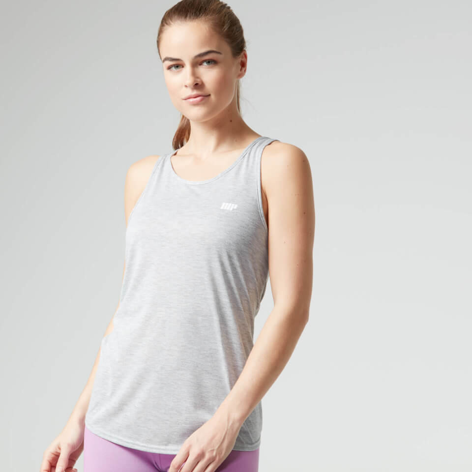 Camiseta de Tirantes con Nudo en la Espalda - XL - Gris