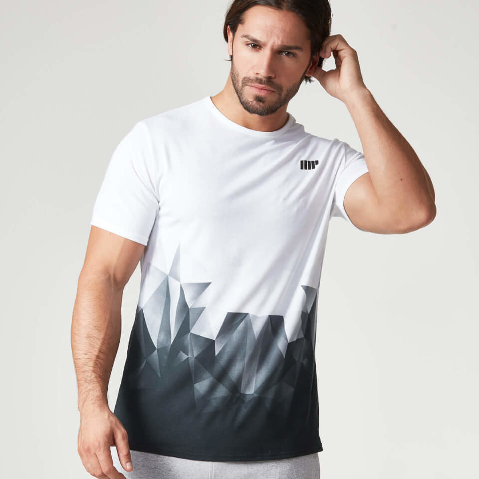 Camiseta con Estampado Digital Geo - S - Azul