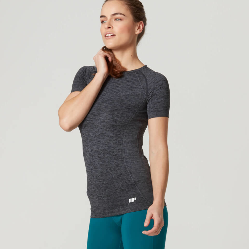Camiseta de Manga Corta Sin Costuras para Mujer de Myprotein - S - Green/Blue