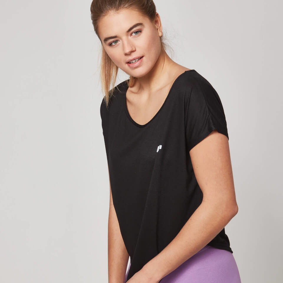 Camiseta con Cuello Redondo - XL - Negro