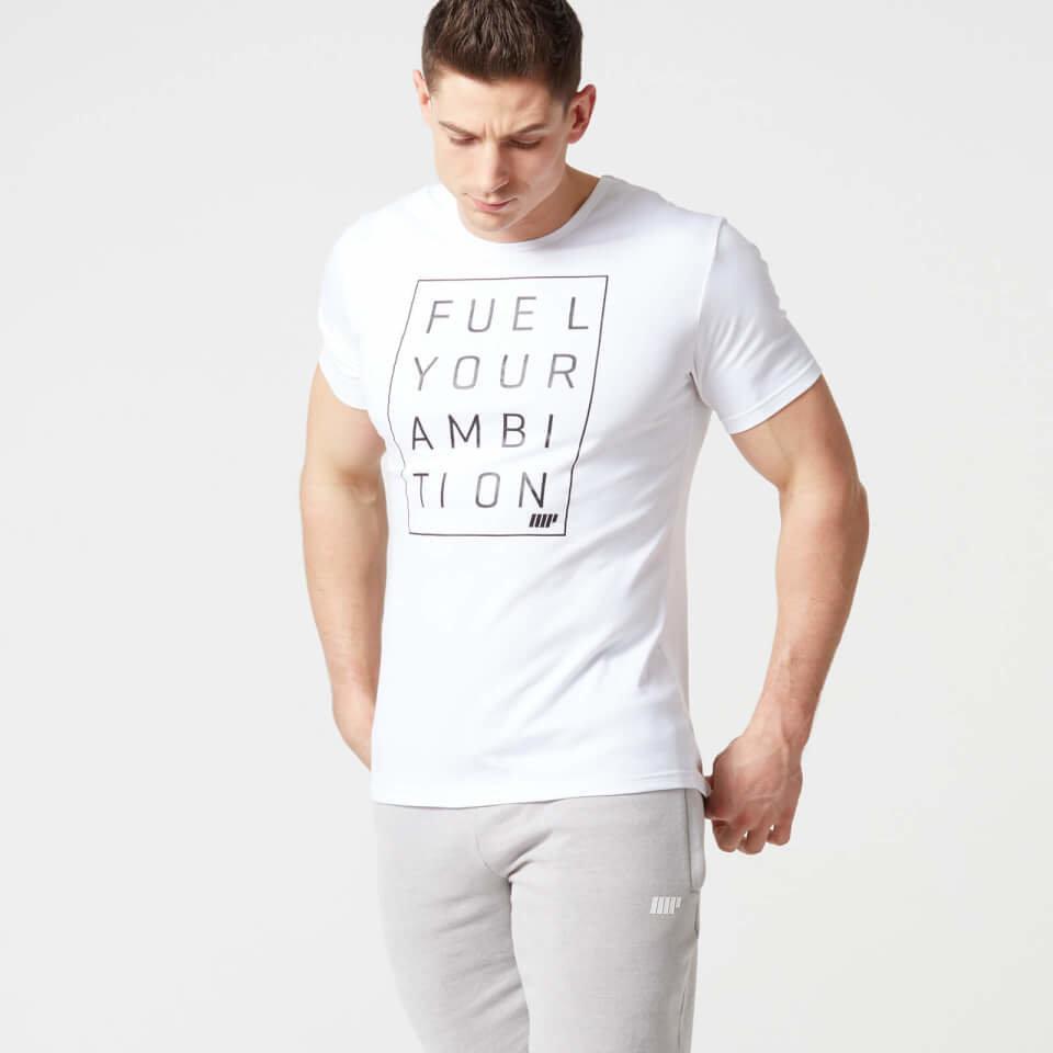 Camiseta Eslogan Core para Hombre de Myprotein - XXL - Blanco