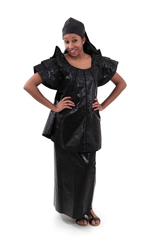 Senegal Black Brocade Outfit