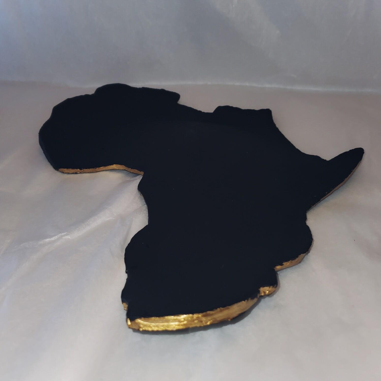 Africa Map Trinket Tray