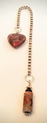 Jasper Heart Pendulum