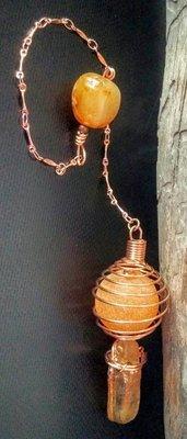 Agate, Amber, and Carnelian Pendulum