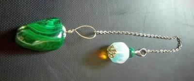 Malachite and Opalite Pendulum
