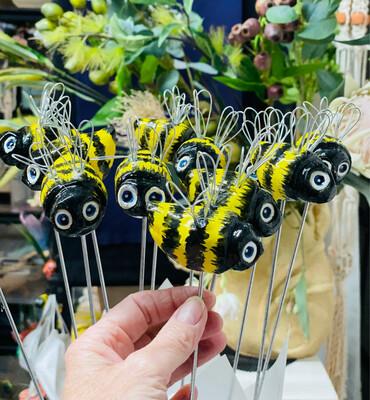 Ceramic Bee Garden Ornament