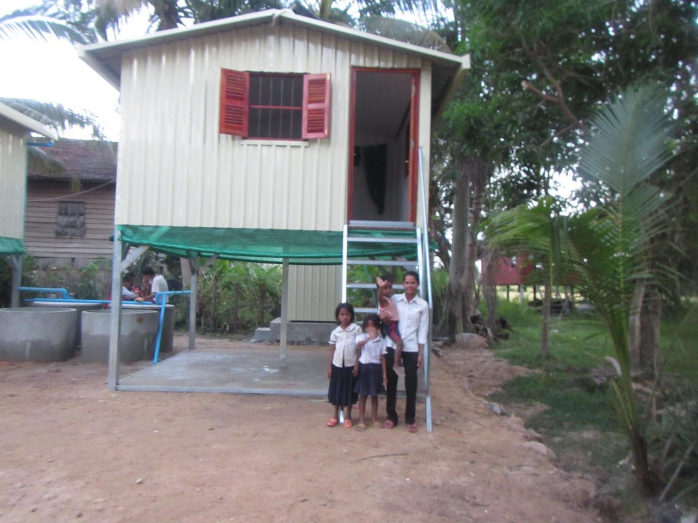 Basic House for a Family including sanitation