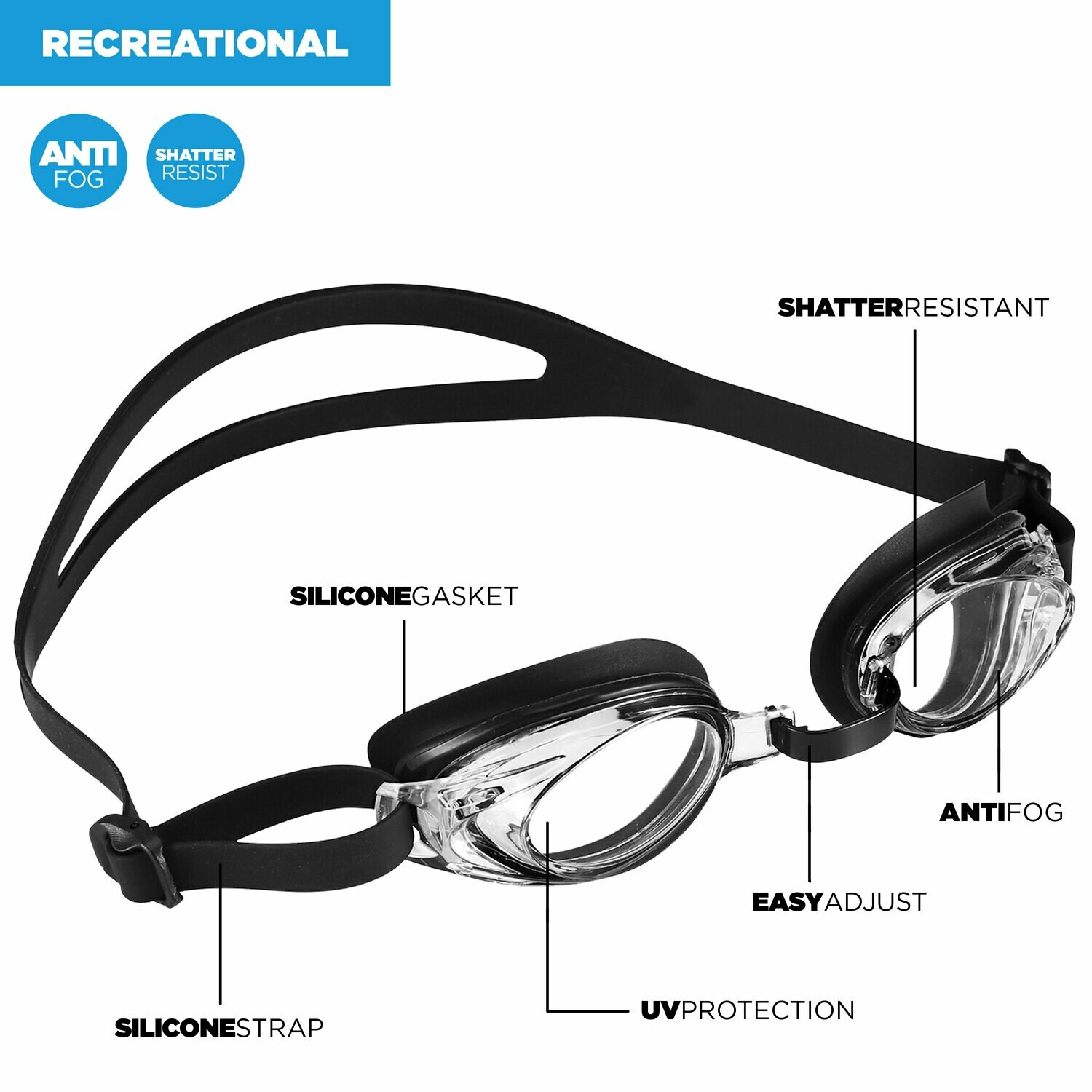 Goggles, Adult by U.S. Diver