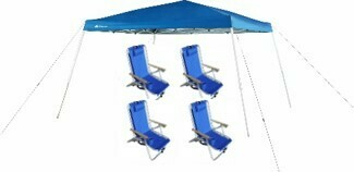 PKG:  10- 4 | 10X10 Canopy & 4 Chairs