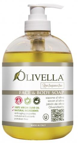 Olivella Vloeibare zeep zonder toegevoegde geuren 500 ml