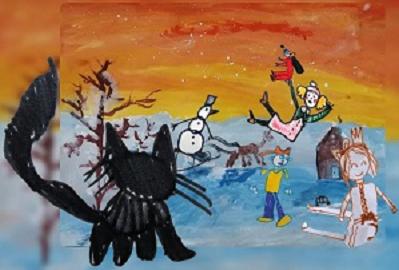 Мультик из детских рисунков в среде Google-презентации (видео)