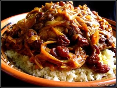Couscous poulet Tfaya