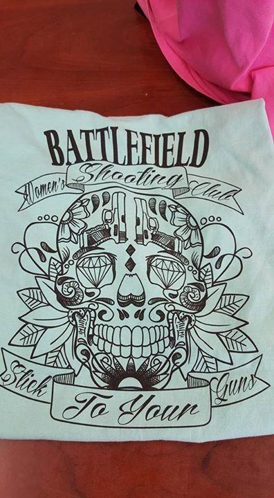 Women's Shooting Club - Sugar Skull Tshirt