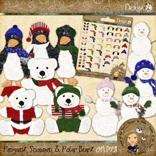 PenguinZ Snowmen & Polar BearZ  OH MY!