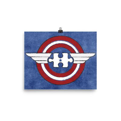 Autism HeroeZ | Captain America Poster