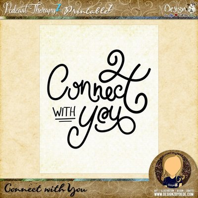 Connect with You   8x10 Art PrintableZ