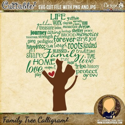 Family Tree CalligramZ