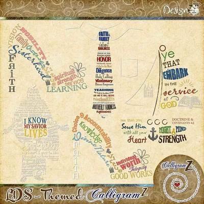 LDS-Themed CalligramZ