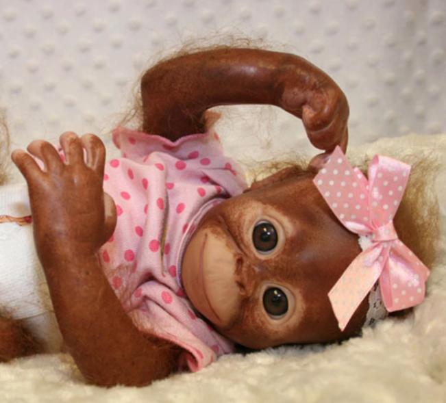 "Painted Rooted Bindi Orangutan (16"" Kit)"