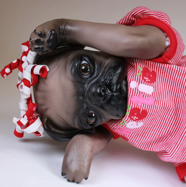 "Prepainted Princess Pug Dog (15"" Kit)"