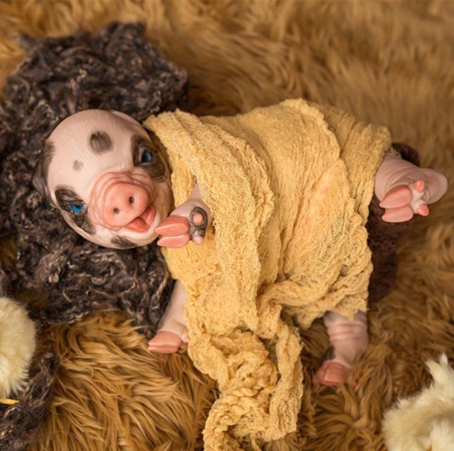 "Prepainted Fawn Piglet (15"" Kit)"