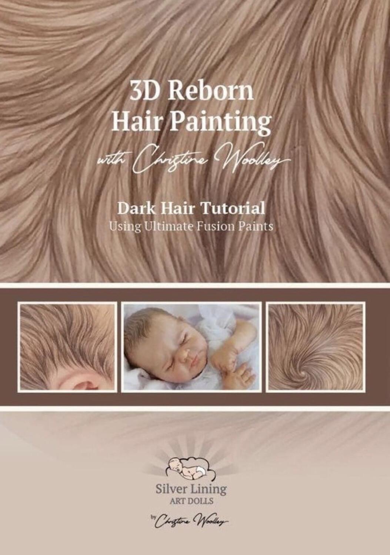 Libro para pintura de pelo en 3D colores castaños por la Artista Christine woolet