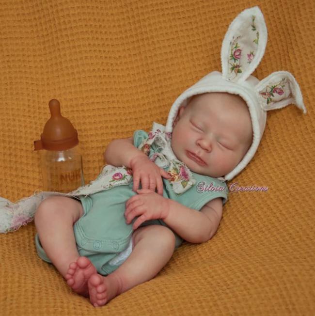 "SECONDS Realborn® Newborn Sage Sleeping (18"" Reborn Doll Kit)"