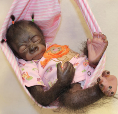 """Painted Rooted Pearl Gorilla (18"""" Kit)"""