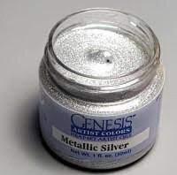Metallic  silver 1 oz.