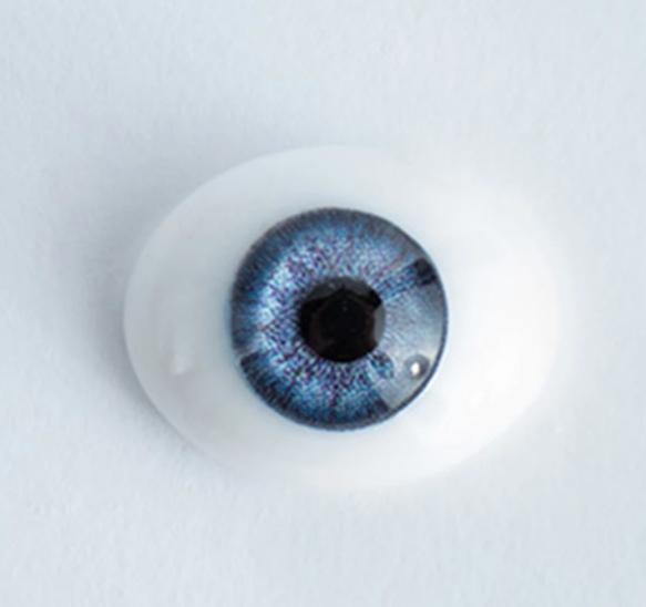 18mm Blue - Oval Glass Eyes