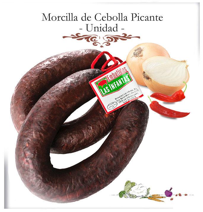 Morcilla de Cebolla Casera Picante. Unidad