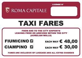 Allestimento esterno completo Taxi per comune di Roma
