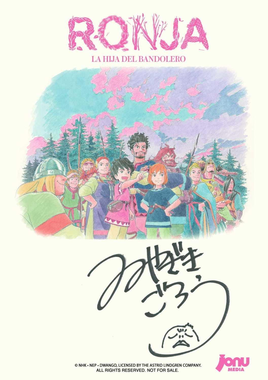 Ilustración Exclusiva de Ronja firmada por Goro Miyazaki ( Gratis con 50€ de compra en ANIME DVD)