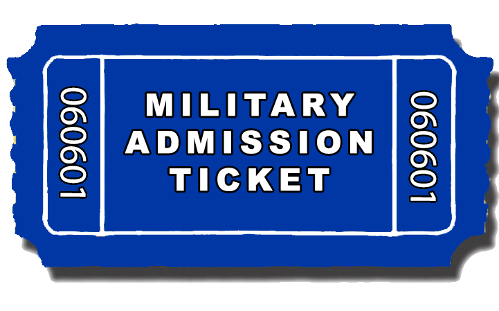 Military Admission Ticket