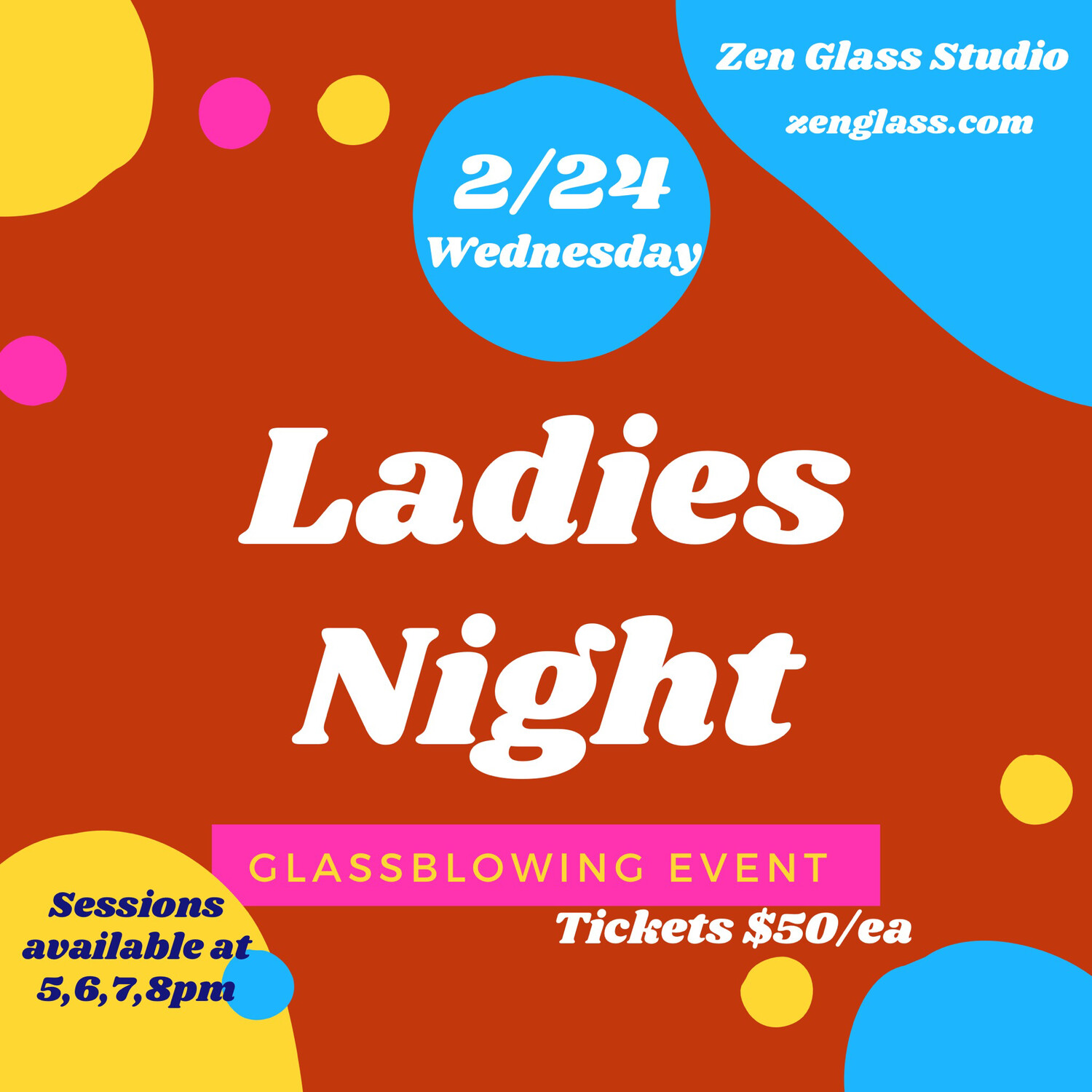 Ladies Night Wednesday February 24th 7pm