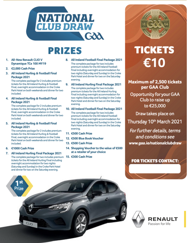 2021 National Draw tickets for Clanna Gael Fontenoy