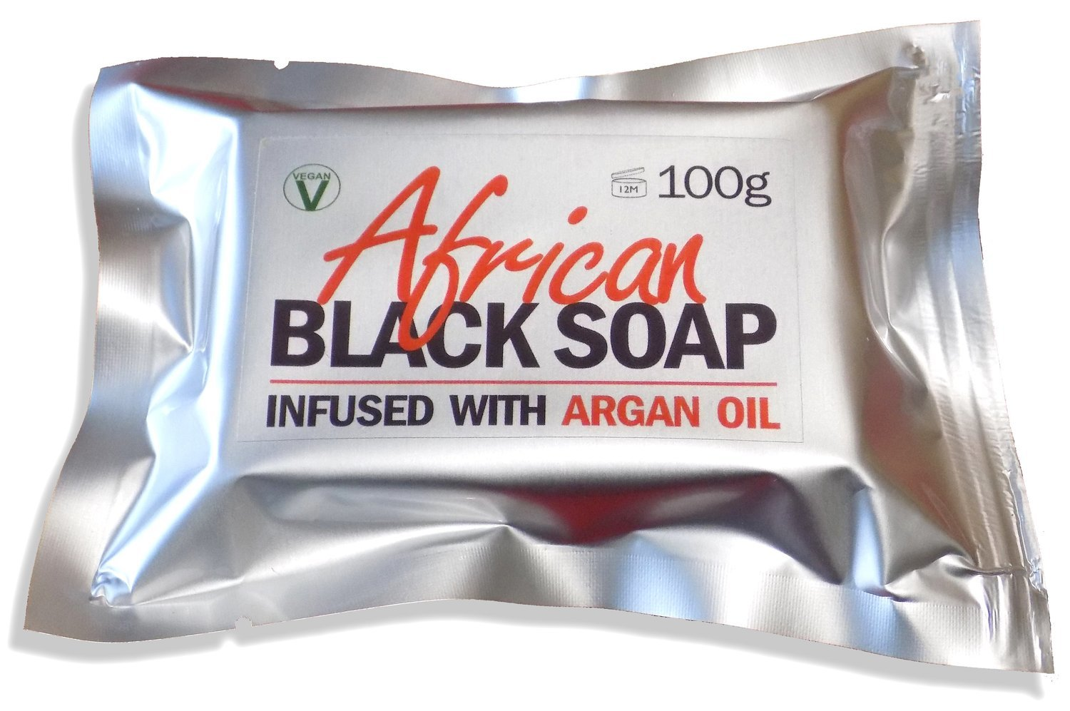 African Black Soap Infused With Argan Oil