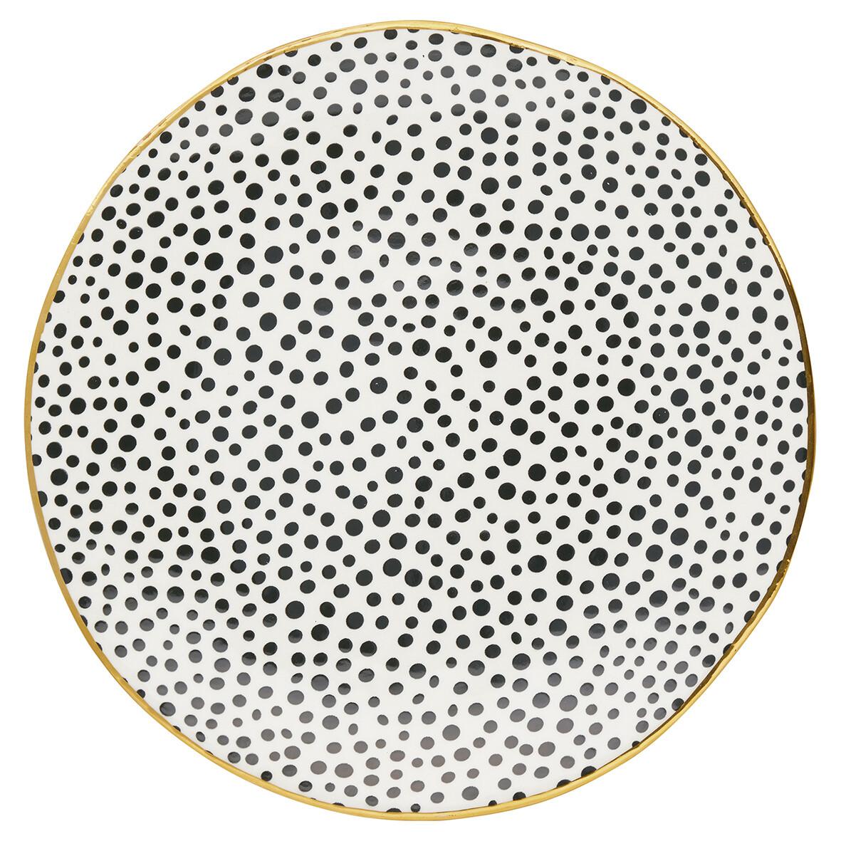 Teller Dot black , d 21 cm
